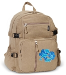 DOLPHIN Canvas Backpack Tan