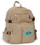 Christian Canvas Backpack Tan