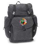 Soccer LARGE Canvas Backpack Black