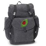 Ladybug LARGE Canvas Backpack Black