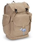 South Carolina LARGE Canvas Backpack Tan