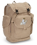 Cute Cats LARGE Canvas Backpack Tan