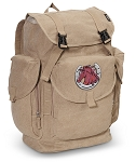 Horse LARGE Canvas Backpack Tan