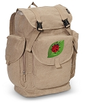 Ladybug LARGE Canvas Backpack Tan