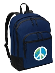 Peace Sign Backpack Navy