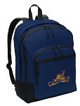 Peace Frogs Backpack Navy
