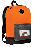 California Backpack HI VISIBILITY Orange CLASSIC STYLE