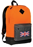 England British Flag Backpack HI VISIBILITY Orange CLASSIC STYLE