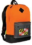Maryland Flag Backpack HI VISIBILITY Orange CLASSIC STYLE