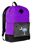 South Carolina Flag Backpack CLASSIC STYLE Purple