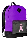 Pink Ribbon Backpack CLASSIC STYLE Purple