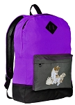 Cute Cat Backpack CLASSIC STYLE Purple
