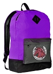 Horses Backpack CLASSIC STYLE Purple