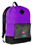 Pink Flamingo Backpack CLASSIC STYLE Purple