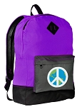 Peace Sign Backpack CLASSIC STYLE Purple