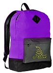 Don't Tread on Me Backpack CLASSIC STYLE Purple