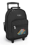 Crazy Cat Rolling Backpacks Black