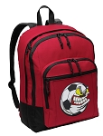 Soccer Fan Backpack CLASSIC STYLE Red