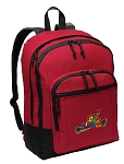 Peace Frogs Backpack CLASSIC STYLE Red
