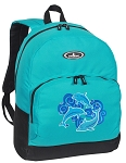 Dolphins Backpack CLASSIC STYLE Turquoise