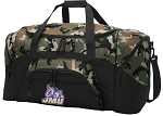 Official James Madison University Camo Duffel Bags