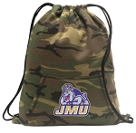 JMU Drawstring Backpack Green Camo