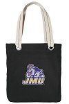 James Madison Tote Bag RICH COTTON CANVAS Black