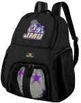 James Madison University Soccer Backpack or JMU Volleyball Bag For Boys or Girls