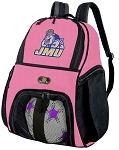 JMU Soccer Backpack or James Madison University Volleyball Practice Bag Purple