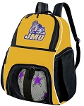 James Madison University Soccer Ball Backpack or JMU Volleyball For Girls or Boys Practice