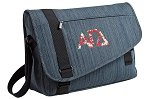 Alpha Gamma Messenger Laptop Bag Stylish Navy