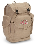 Alpha Gamma LARGE Canvas Backpack Tan