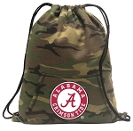 Alabama Drawstring Backpack Green Camo