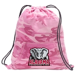 Alabama Drawstring Backpack Pink Camo