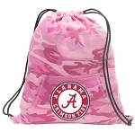 Girls Alabama Drawstring Backpack Pink Camo
