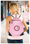 Alabama Drawstring Backpack-MESH & MICROFIBER Pink