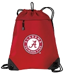 Alabama Drawstring Backpack-MESH & MICROFIBER Red