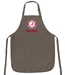 Deluxe UA Alabama Grandmother Apron Khaki