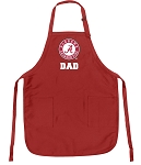 Deluxe Alabama Dad Apron Red