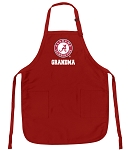Deluxe Alabama GRANDMA Apron Red