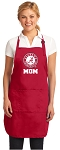 Deluxe Alabama MOM Apron Red
