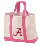 University of Alabama Tote Bags Pink