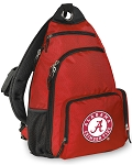 Alabama Backpack Cross Body Single Strap Style Red