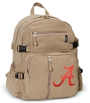 University of Alabama Canvas Backpack Tan