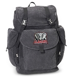 Alabama LARGE Canvas Backpack Black
