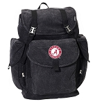 LARGE Canvas Alabama Backpack Black