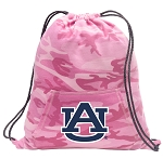 Auburn Drawstring Backpack Pink Camo