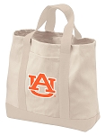 Auburn Tote Bags NATURAL CANVAS