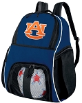 Auburn Soccer Ball Backpack or Auburn University Volleyball Practice Gear Bag Navy