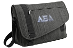 Alpha Xi Messenger Laptop Bag Stylish Charcoal